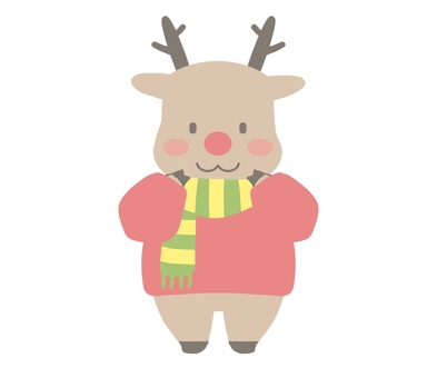 Reindeer in sweater shape