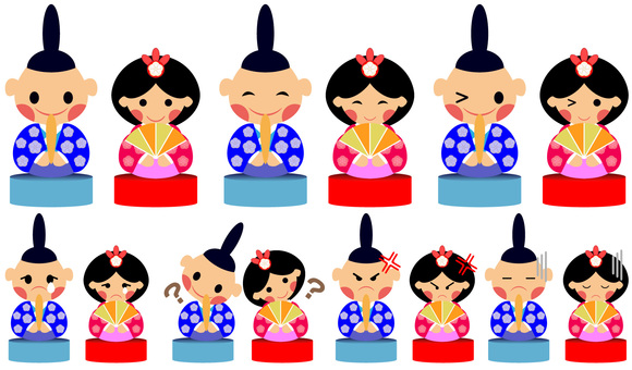 Various Hina Dolls 14 patterns