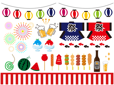 夏祭り 提灯 夏セット 花火 ビール