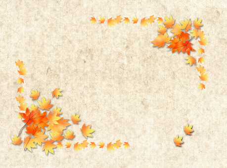 Autumn leaves on Japanese paper ★ 0277-F