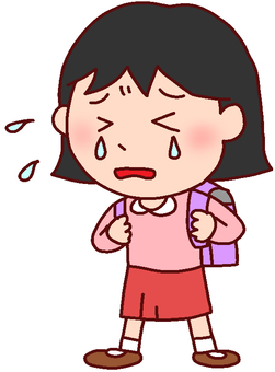 Illustration of a crying girl