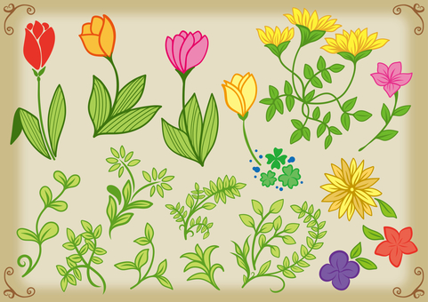 Spring image Flower pattern material