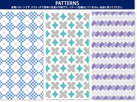 Square pattern · flower pattern