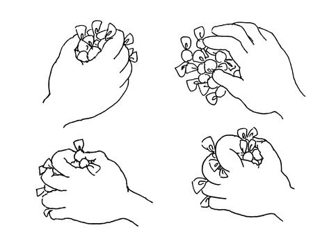 Candy grasper hand line