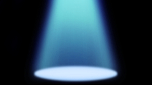 Spotlight light blue moving picture material background