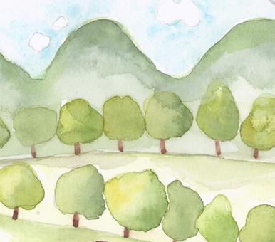 New green tree row 2
