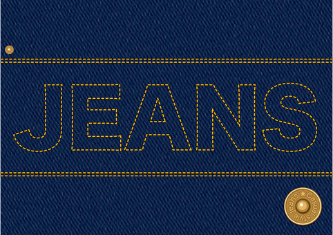 Jeans fabric stitch material