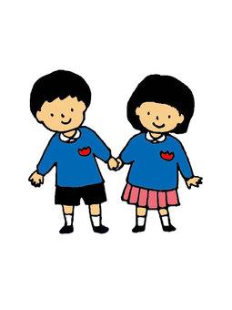 幼兒園友誼的顏色
