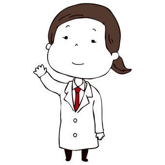 白大褂的女醫生
