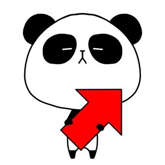 Panda upper right arrow