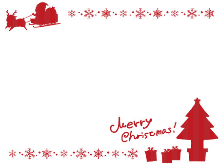 Christmas silhouette background 4