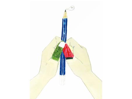 손과 연필