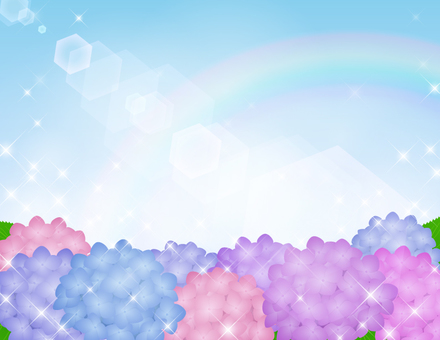 Hydrangea background _ glitter