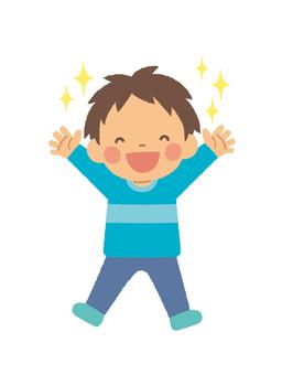 Boy happy