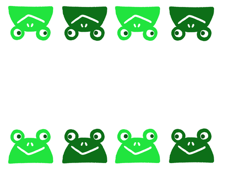 青蛙框架輪廓