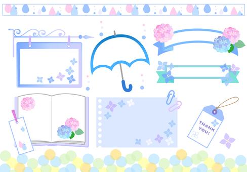 Hydrangea rainy season frame Summary