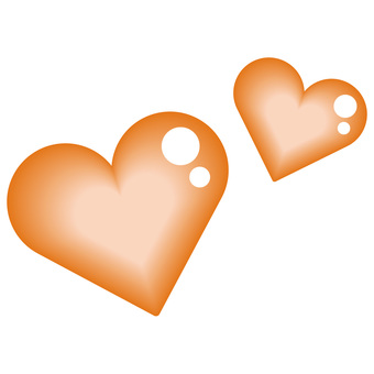 Heart Double Orange