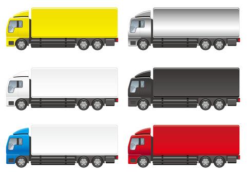 Illustration set of large truck