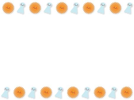 배경 - 태양과 照る照る坊主 01