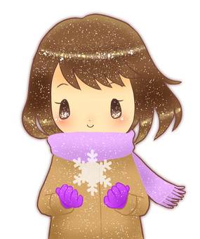 Girl with (snow · smile)