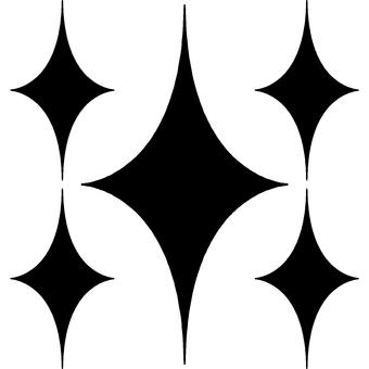 Pattern glittering pattern