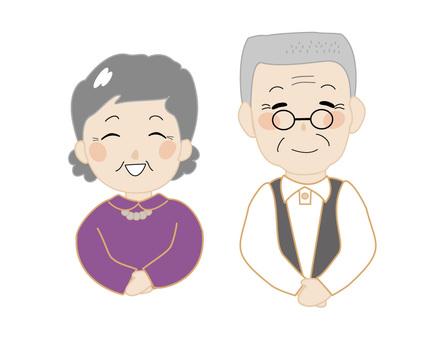 Senior couple 3 smile