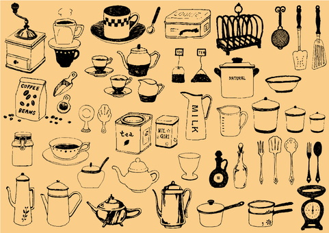 Various kitchen supplies