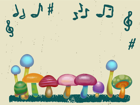 Crayonish mushrooms and musical note reform