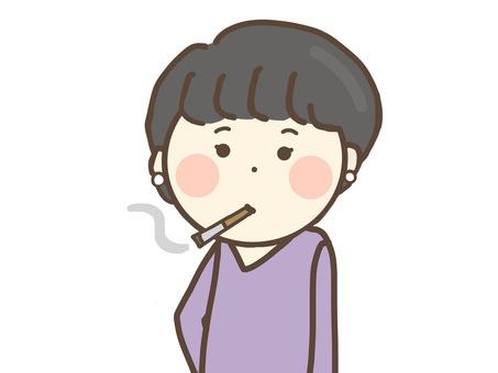 A woman who smokes