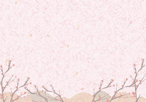 Japanese paper · plum I
