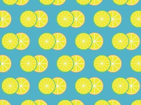Retro-like pattern of lemon and lime