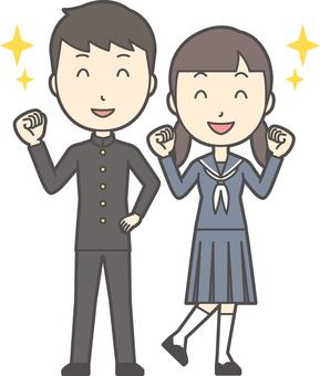 中学生男女セット-052-全身