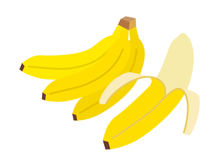 Simple fruit banana (bunch, peeled)