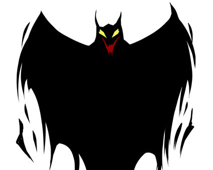 何か悪魔的な・魔王的な・蝙蝠的な感じの影