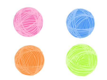 Colorful wool ball