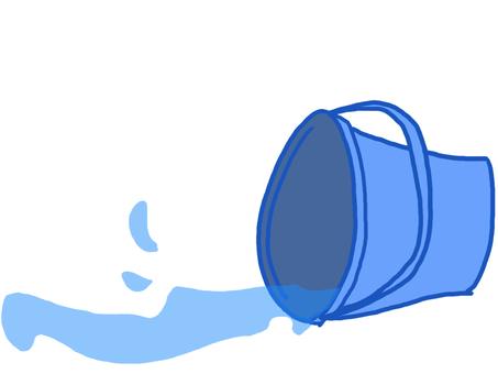 A rolling bucket