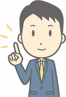 Suit male b - Fingering smile - Bust