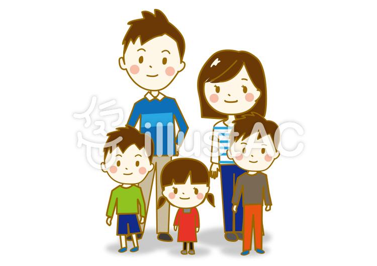 「子供 家族 イラスト」の画像検索結果