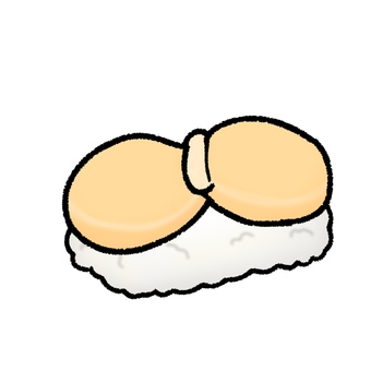 Scallop sushi (with contour)