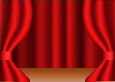The stage of the red curtain