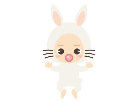 B062_baby clothes baby_rabbit