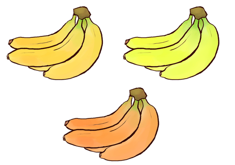 Three bananas