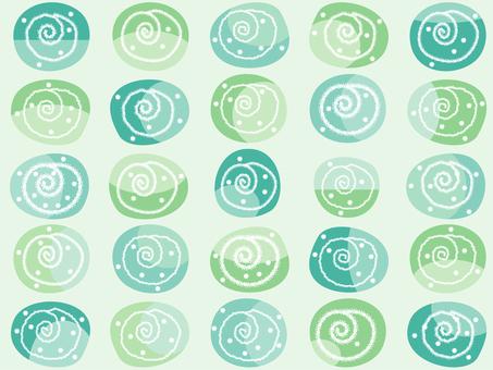 Pattern _ swirl green