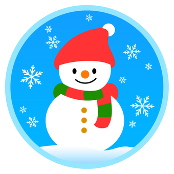 Snowman and snowflake