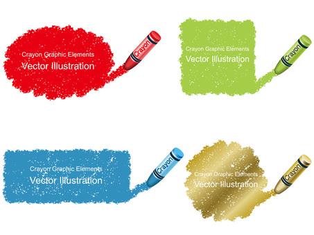 Crayon Handwriting Background Element 1