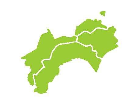 Shikoku region map