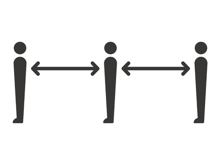 Social distance (line up)