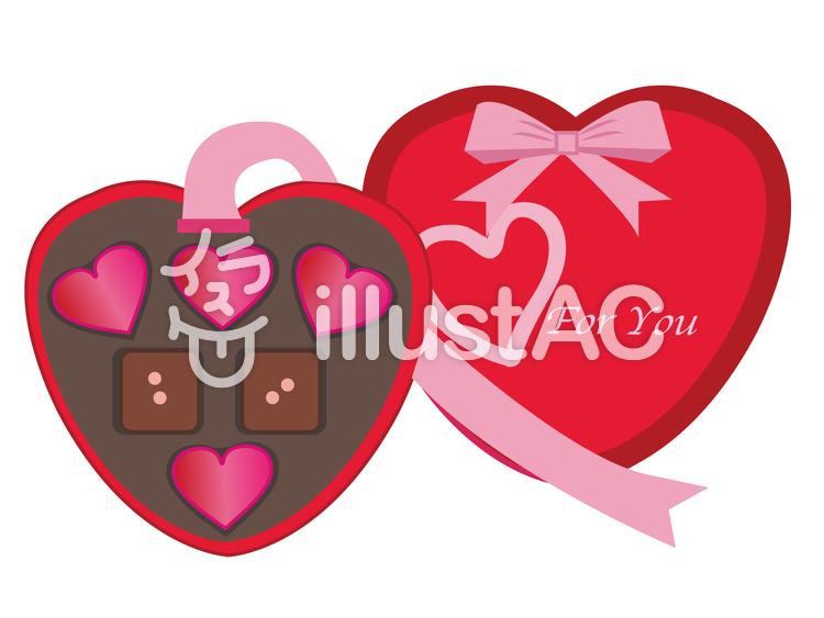 バレンタイン チョコレートのイラスト