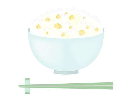 Chestnut rice chopstick set