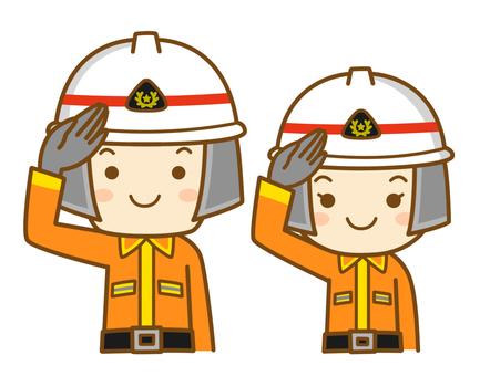 Salute firefighter